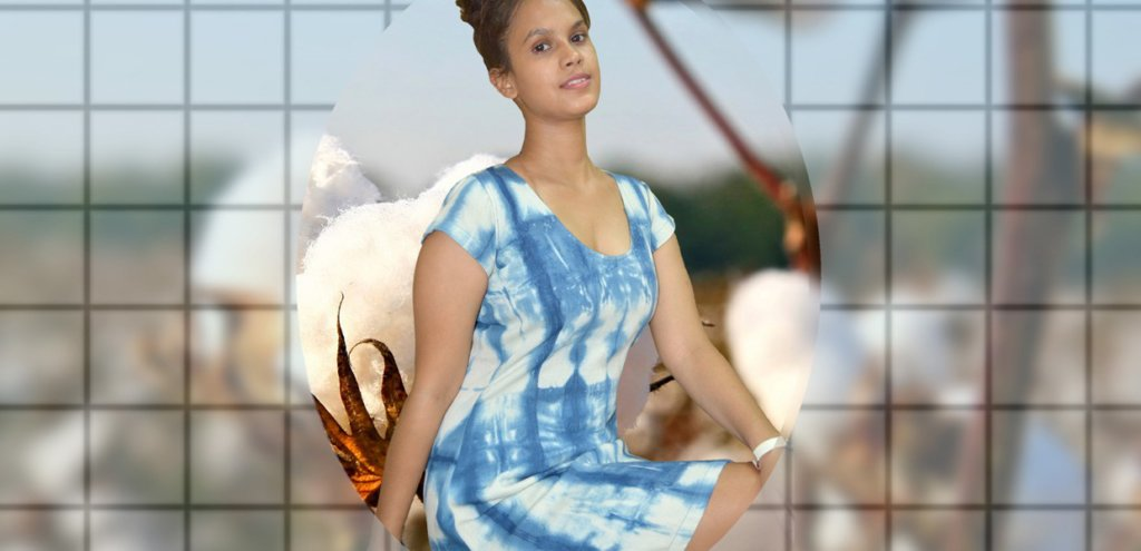 Tie and Dye with Natural Indigo Dress