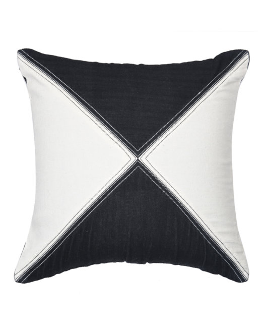 cushion_cover_handloom_denim_alternating_triangles_front_view