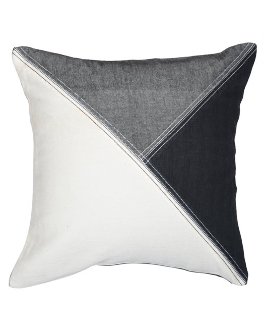 cushion_cover_handloom_denim_three_triangles_front_view