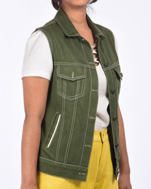 handloom_denim_sleeve_less_trucker_jacket_women_side