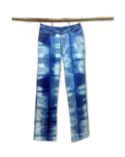 Khadi Denim Jeans Natural Indigo Tie and Dye